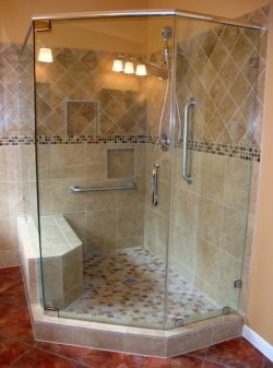 glass shower enclosure in houston