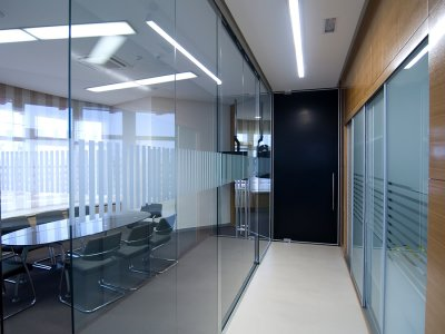 glass interior walls houston
